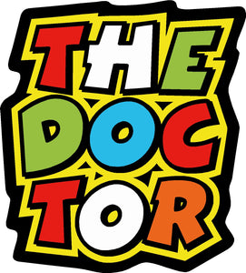 valentino rossi  the doctor square sticker