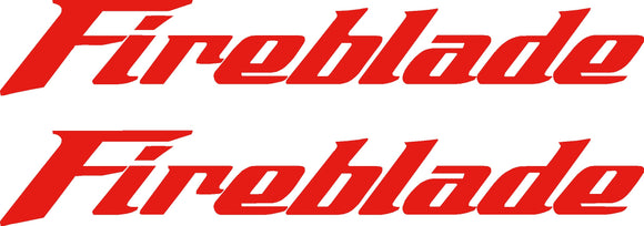 Fireblade Sticker x2