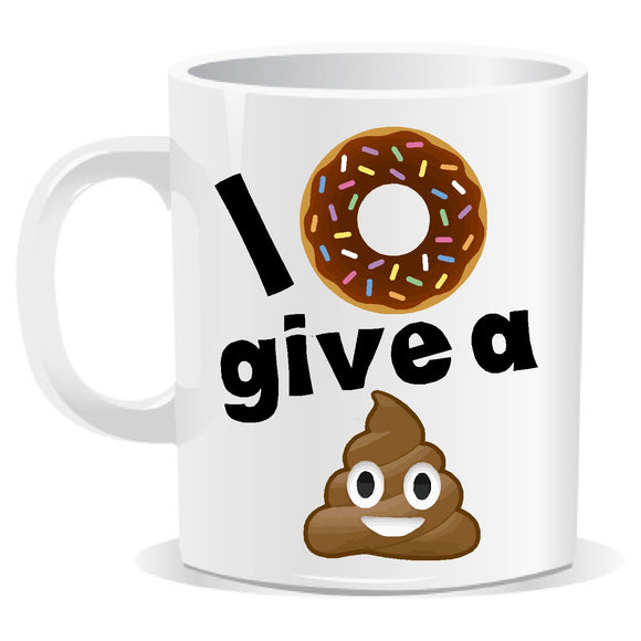 I Donut Give a Shit Novelty Slogan Mug