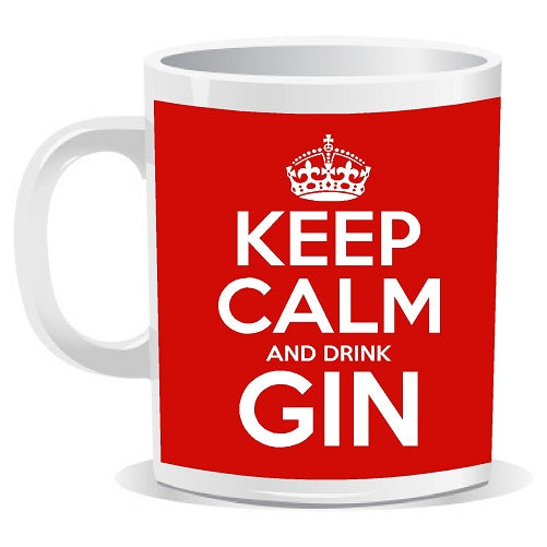 Keep Calm and Drink Gin Novelty Slogan Mug