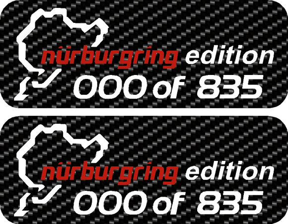 Nurburgring Personalised Edition Gel Badge