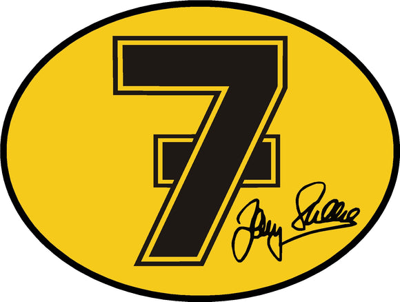 Barry Sheene Number 7 Sticker