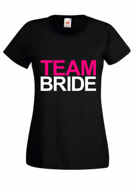team bride t shirt wwwcustomdecals.co.uk