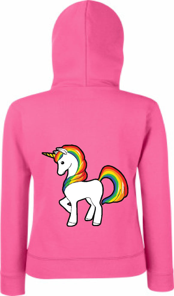 Childrens Personalised Unicorn Hoodie