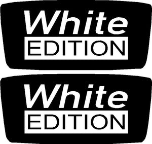 White Edition Domed Wing Badges