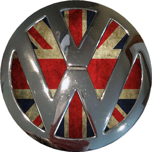 antique union jack vw badge inlay