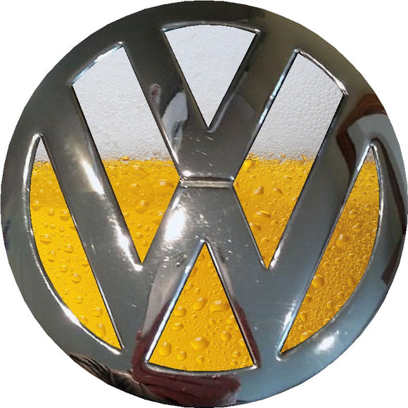 vw beer design badge inlay