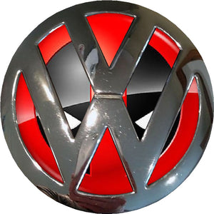 Deadpool Design Badge inlay to fit  Golf / Polo Mk4 Mk5 Mk6/Mk7/ T4/ T5 / Transporter