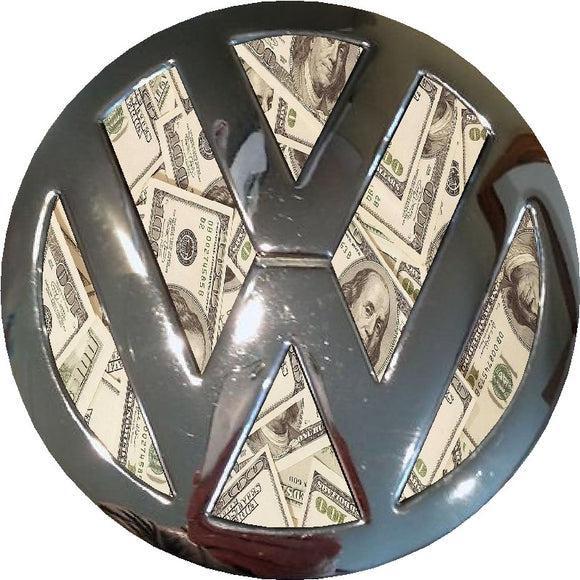 dollar design vw badge inlay