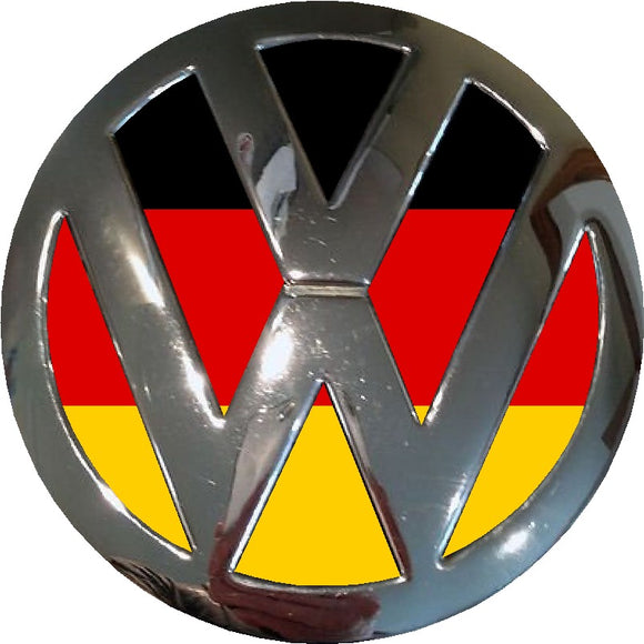german flag vw badge inlay sticker customdecals.co.uk