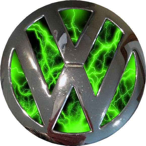 green electric design vw badge inlay www.customdecals.co.uk