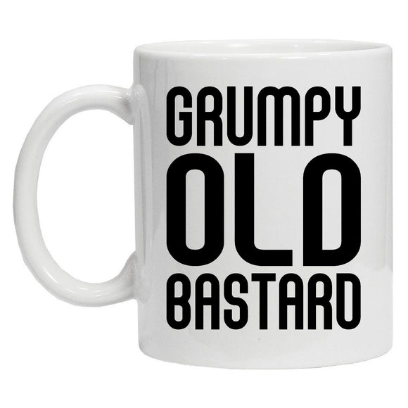 grumpy old bastard novelty slogan mug