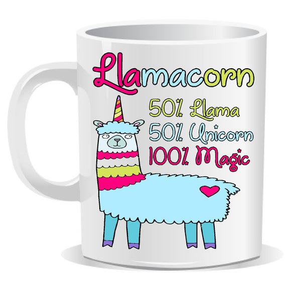 llamacorn mug customdecals.co.uk