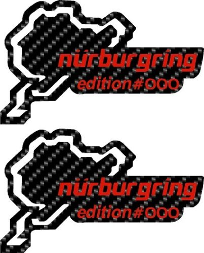 2 x Personalised VXR Nurbugring Edition Track Gel / Domed Door Pillar Stickers