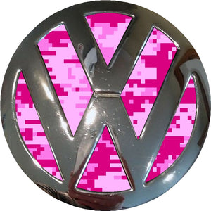 pink digital camo vw badge inlay