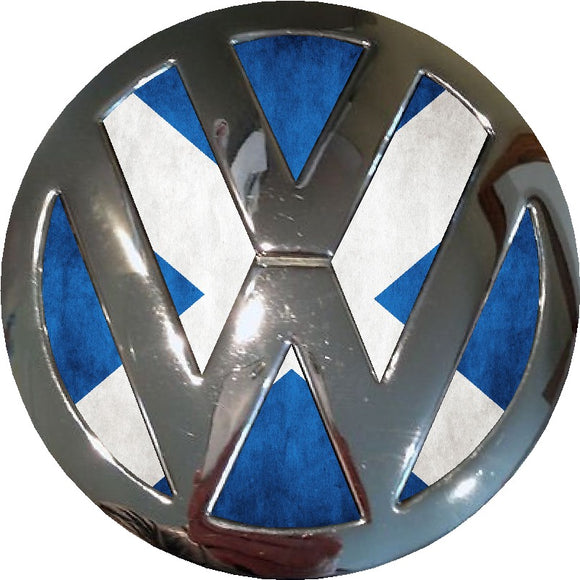 scotland badge vw badge inlay