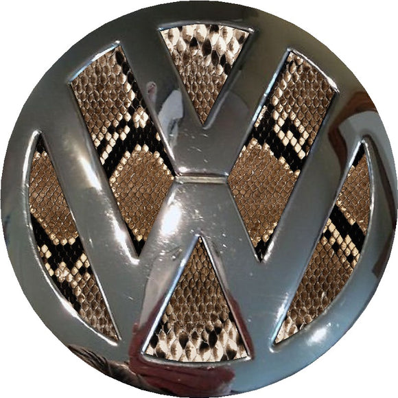 snake print design vw badge inlay