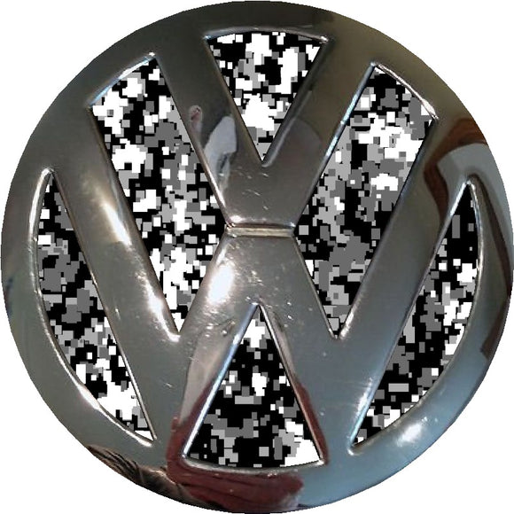 Urban Camo vw badge inlay