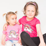 'Hud yr Enfys' Unicorn child's t-shirt
