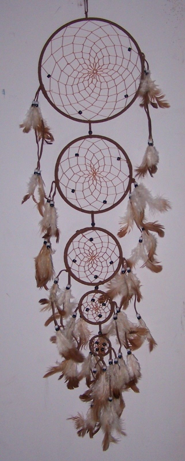NpDc215** 3 Tier 6pcs Lot Hand Made Tribal  Dream Catchers Wall Hangings