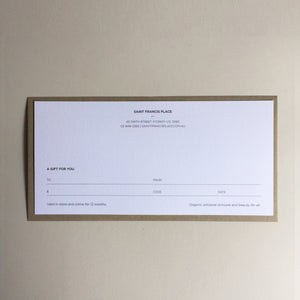 Gift Voucher - Printed Card