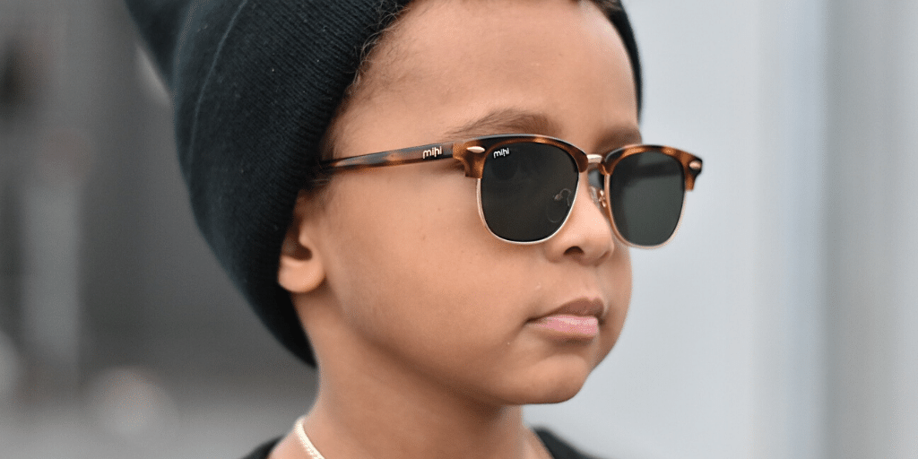 tate wearing brooklyn mihi sunglasses
