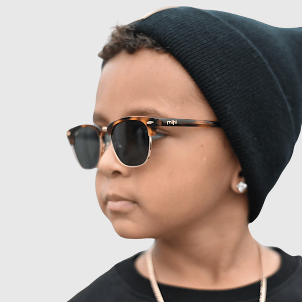 tate wearing mihi kids sunglasses - the brooklyn design