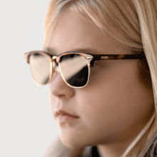 Load image into Gallery viewer, lexi wearing mihi kids sunglasses - the brooklyn design