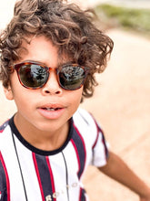 Load image into Gallery viewer, oliver wearing mihi kids sunglasses - the bedford design