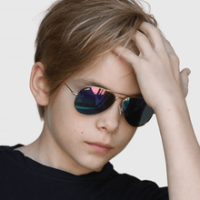 Load image into Gallery viewer, marek wearing mihi kids sunglasses - the soho design