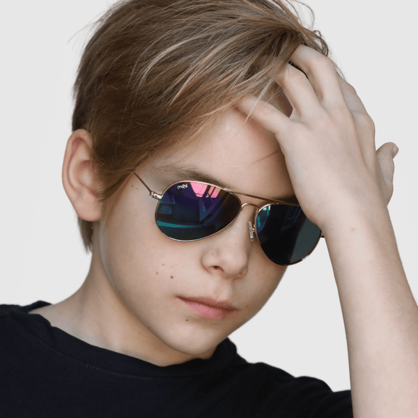 marek wearing mihi kids sunglasses - the soho design