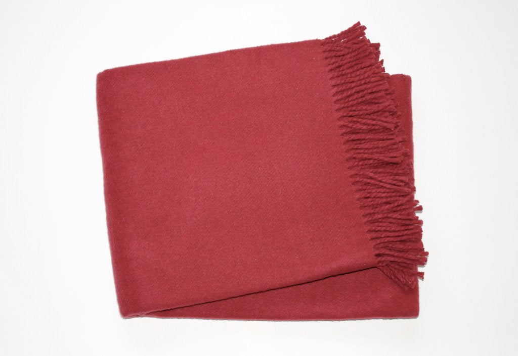 Solid Plush Cotten Blend Throw 55x70 - Dark Burgundy