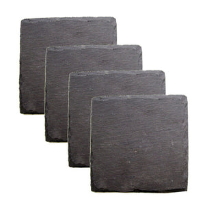 Square Slate Coasters (Set of 4)