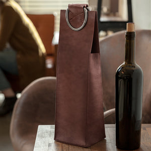 Faux Leather Wine  - Brown