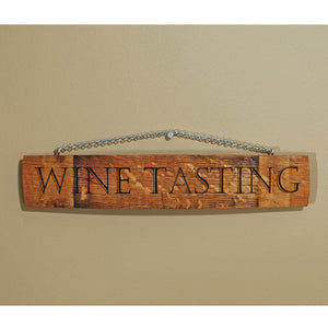 Recycled Barrel Wine Sign