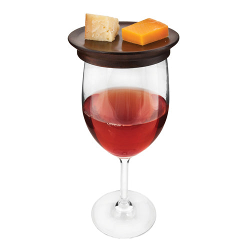 Mahogany Appetizer Glass Toppers (Set of 4)