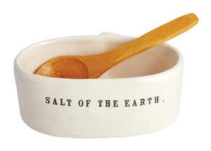 Salt of the Earth Salt Cellar w/ Spoon
