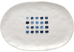 Indigo Dreams Oval Tray