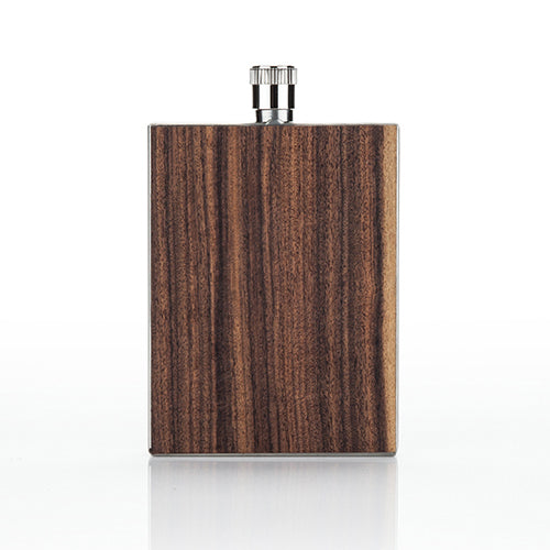 Wood Paneled Pocket Thin Flask