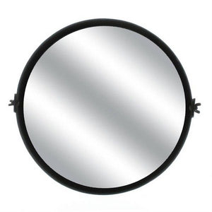 Pivot Iron Round Mirror - Black Waxed