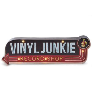 Vinyl Junkie Lighted Sign