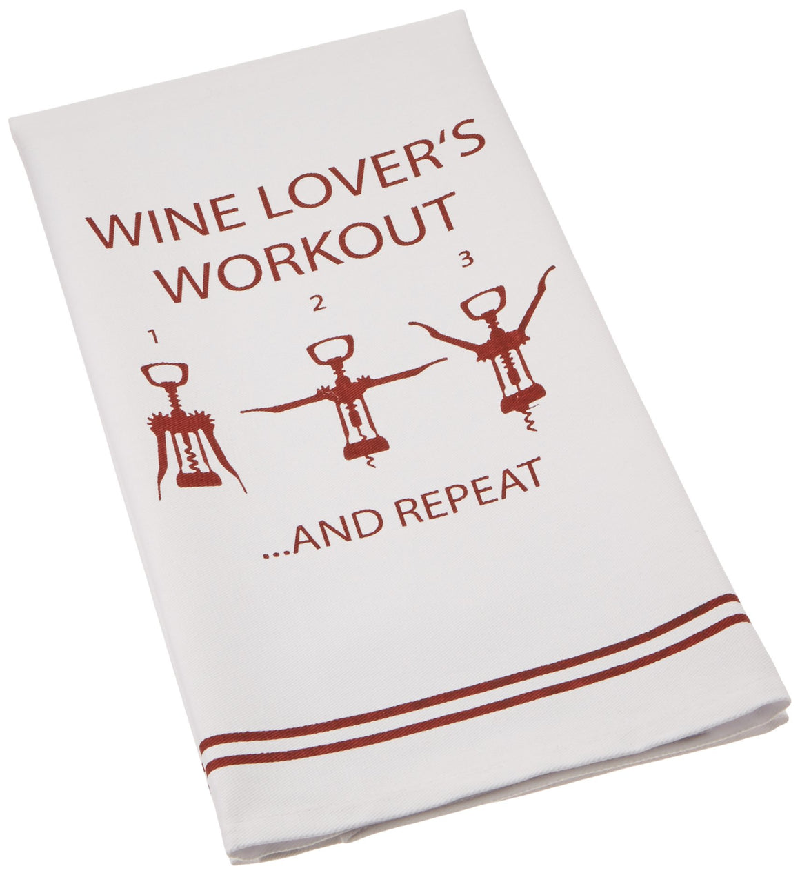 Wine Lover's Workout Dish Towel