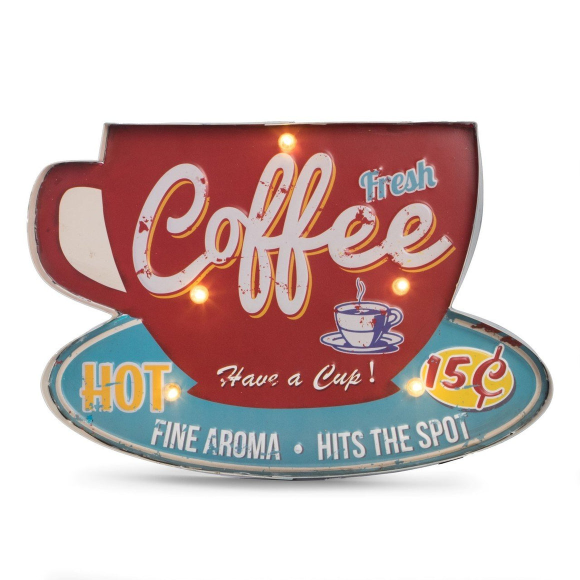 Coffee Mug Lighted Sign