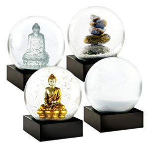 Mini Zen Set of Four Snow Globes