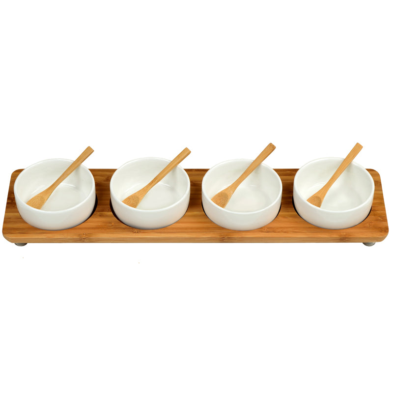 4 Bowl in Line Serving Plate