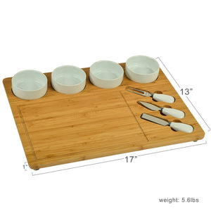 Four Bowl Bamboo Board w/ Tools