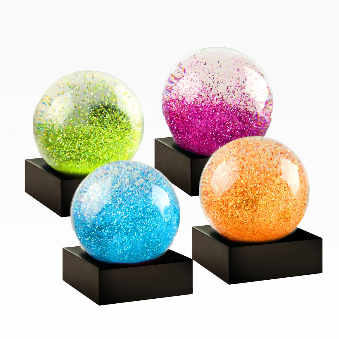 Mini Jewels Set of Four Snow Globes