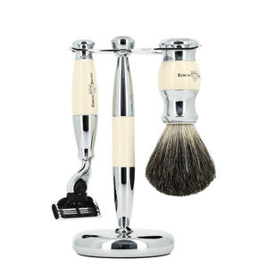 3 Piece Shaving Set - Ivory