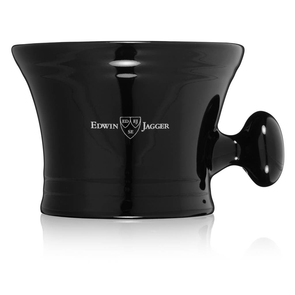 Black Porcelain Shaving Bowl With Handle