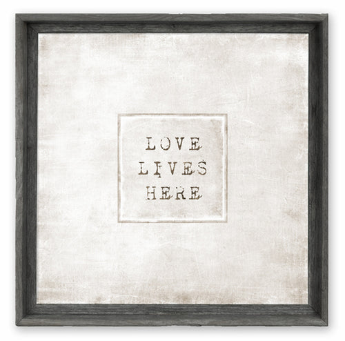 """Love Lives Here"" Wall Art"